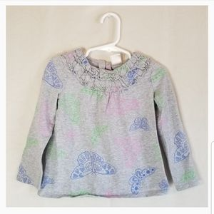 💡 Old Navy Gray Butterfly Long Sleeve Shirt